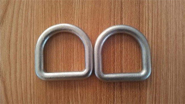 High Strength Safety D Rings Zinc Plated Buckle D Rings With Hot Forged