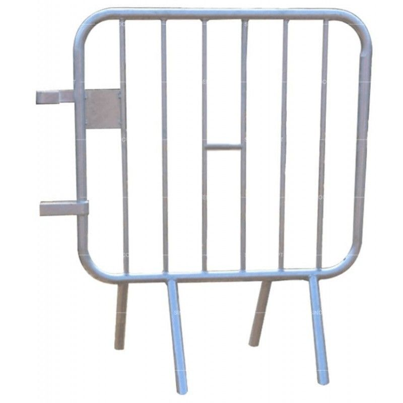 Temporary Crowd Control Barriers Galvanized Crowd Control Barricades Customized Size